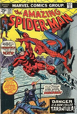 Amazing Spider-Man(1963 1St Series) #134. 1St Appearance Of The Tarantula