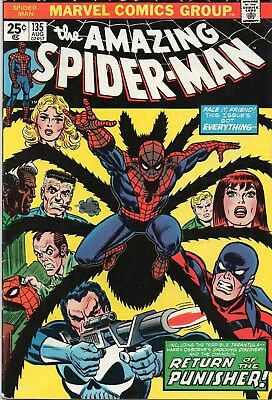 Amazing Spider-Man(1963 1St Series) #135. 2Nd Full Appearance Of The Punisher