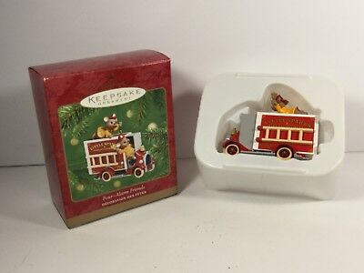 Hallmark Ornament 2001 Four-Alarm Friends Die-Cast Metal Ornament Mint
