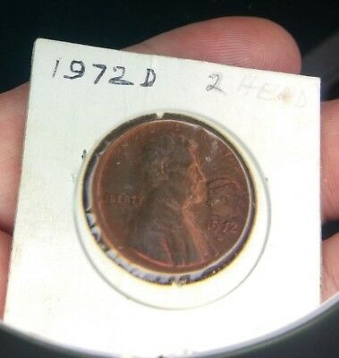1972 LINCOLN CENT With JOHN F KENNEDY Profile COUNTER STAMPED  #868