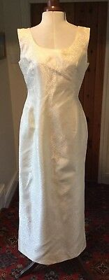 VINTAGE 1990's GOLD DAMASK WEDDING DRESS