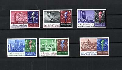 Jordan - Mnh Olympics Mexico Sports Imperforated Set Of Stamp Lot (Jor 106)