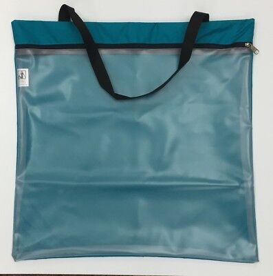 Full protection Needlework Project Tote by Ashland Sky made in USA Medium Teal