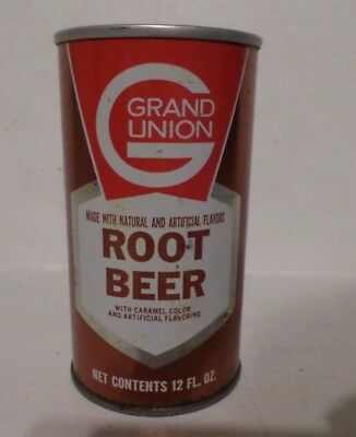Rare Grand Union Root Beer E. Paterson New Jersey Straight Steel Soda Pop Can