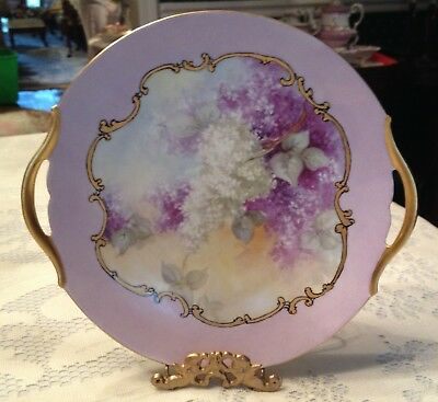 Beautiful Limoges Cakeplate with Lilacs