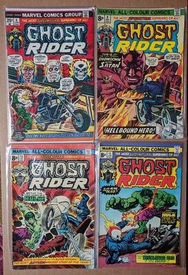 Marvel - Ghost Rider lot of 4 comics - No.6,9,10,11 FN/VF