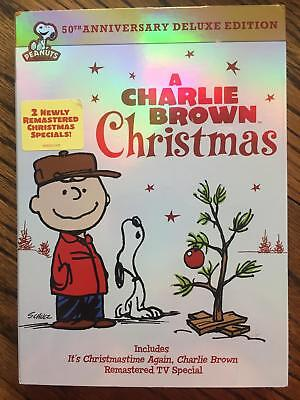 NEW A Charlie Brown Christmas (DVD, 2014, 2-Disc Set, 50th Annivesary) FREE Ship