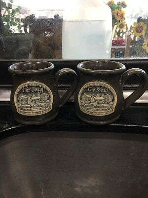 SET OF 2 The Swag Country Inn COFFEE MUGS~DENEEN POTTERY CO.
