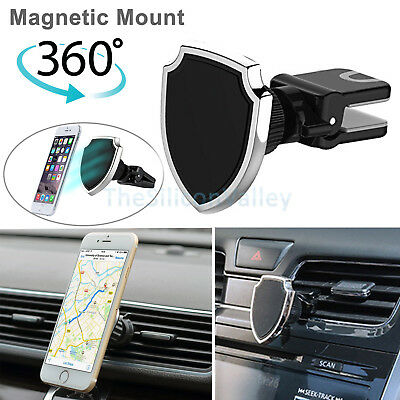 360° Universal Magnetic Car Air Vent Mount Holder Cradle For Cell Phone GPS IL