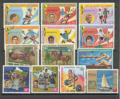 Guinee Equatorial - Lot of Stamps Sports