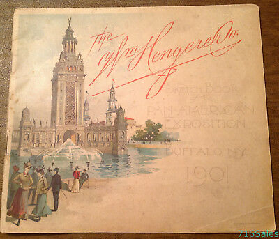 1901 Williiam Hengerer Co. Sketch Book of the Pan-American Exposition Buffalo NY