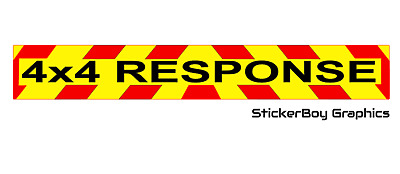 4x4 Response Magnet Chevron Rescue Lowland Highland Offroad Search and Rescue x1