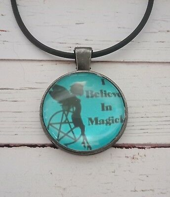 Magic fairy pendant wiccan witch pagan holiday pentagram alternative new age