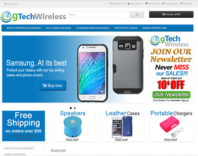 Wireless products turnkey website for sale - Established Domain & Website