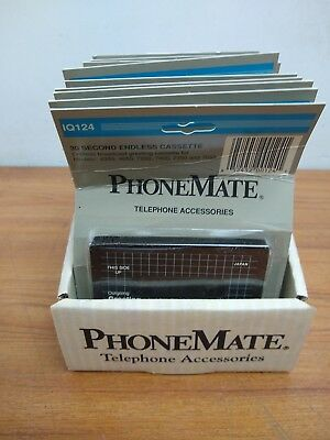 Lot of 12 New, Old Stock PhoneMate IQ124 - 30 Second Endless Cassette 4350-7650