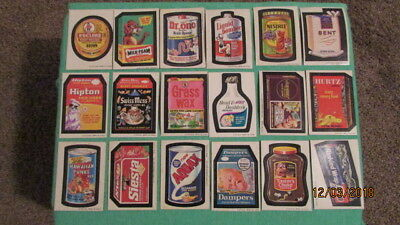 18 Vintage 1970's Wacky Packages Wacky Packs Trading Card Cards Stickers Lots