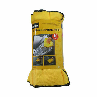 Rolson Premium Ultra Soft Micro Fibre Yellow Cleaning Clothes 33g, 400 x 300mm