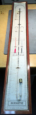 Vintage French 'Les Ateliers LM Bordeaux' Aneroid Wall Hanging Barometer