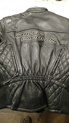 Harley-Davidson Premium Leather Motorcycle Jacket with Liner Woman's Size Large