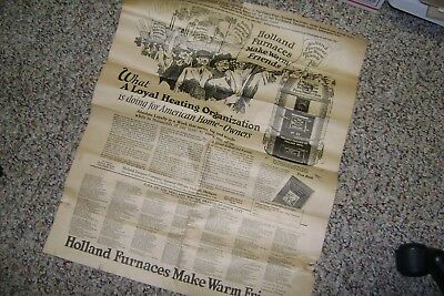 Original Holland Furnace Co Print Ad