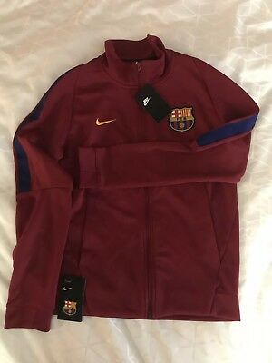 7296c6958 NWT ~ 2017 2018 Authentic Nike FC Barcelona Franchise Football Soccer Jacket