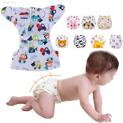 9C19 Washable Cartoon Print Baby Diaper Nappy Cloth Infants Reusable Supplies 20