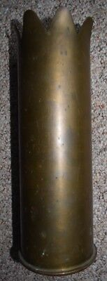 Large Artillery Brass Shell Casing Trench Art Dated 1939