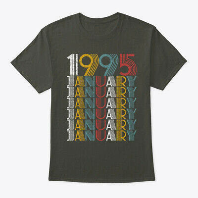January 1995 Birthday Vintage Style Hanes Tagless Tee T-Shirt