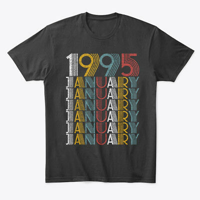 January 1995 Birthday Vintage Style Premium Tee T-Shirt