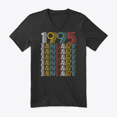 January 1995 Birthday Vintage Style Premium Jersey V-Neck