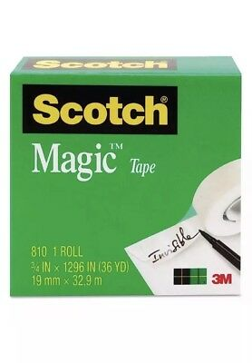 "Scotch Magic Tape, Clear 3/4"" x 1296"" 1 ea (Pack of 3)"