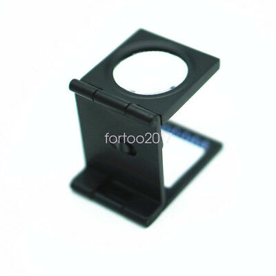 Foldable Lighted Magnifier / Loupe Jewelry Photo Sewing Thread Counter 10X 30mm