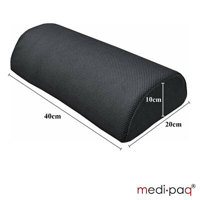 Half Moon' Memory Foam Cushion Pillow - Soft Yet Firm D Shape Cushion Black 3d