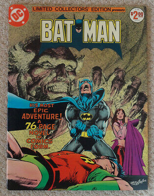 Batman Dc Limited Collectors Edition C-51 Very Fine Ras Al Ghul Neal Adams