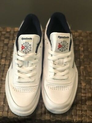 185d62a9533 Reebok Classic Club Memt Lifestyle White Navy Mens Sneakers Tennis Shoes