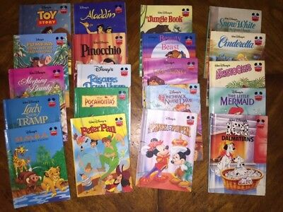 Lot of 20 Wonderful World of Reading Walt Disney Cartoon Kids Books 1990's