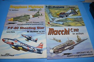 Squadron Signal In Action Book Lot World War II
