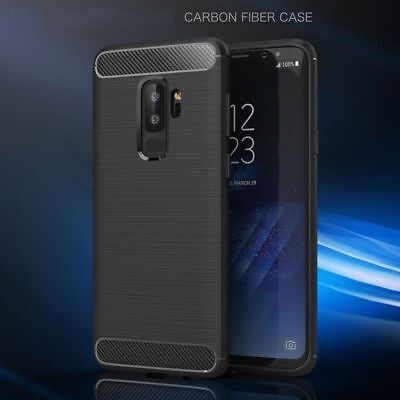 For Samsung Galaxy S9 Carbon Fiber Hybrid Shockproof Matte Case Cover