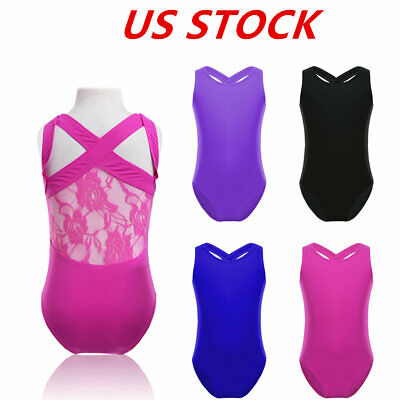 US Girls Ballet Dance Dress Toddler Leotard Gym Dancewear Ballerina Wear Costume