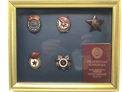 Set of 5 Soviet World War II Medals brought to the U.S. in a Diplomatic Pouch