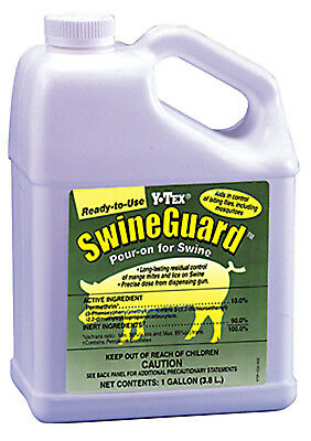 SwineGuard Y-Tex Pour-On Pigs Mange Lice Flies Mosquito