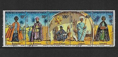 1972 CHRISTMAS, Senegal, strip of 5, set, used