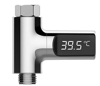 LED Display Home Water Shower Thermometer Flow LW-101 Water Temperture Monitor