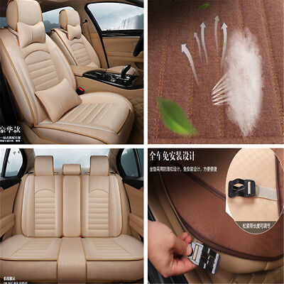High Linen Material 5D Car Seat Cover Car Styling Full Front+Rear Cushion 5Seats
