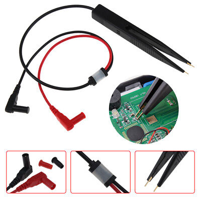 NEW SMD Inductor Test Clip Probe Tweezers for Resistor Multimeter Capacitor X