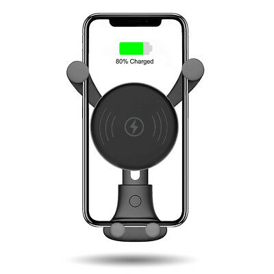 10W QI Wireless Charger Car Mount Holder Stand For iPhone XS Max Samsung S9 X