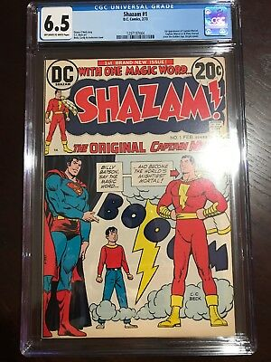 Shazam # 1 - Cgc 6.5 - The Original Captain Marvel -Movie (2020) - 1973