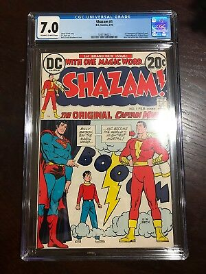 Shazam # 1 - Cgc (7.0) - The Original Captain Marvel -Movie (2020) - 1973