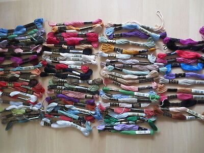 EMBROIDERY COTTONS FLOSS DMC NUMBERED MIXTURE  x 86