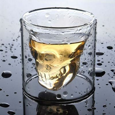 Crystal Skull Head Vodka Shot Whiskey Home Wine Beer Tea Drinking Glass Cup 25ml